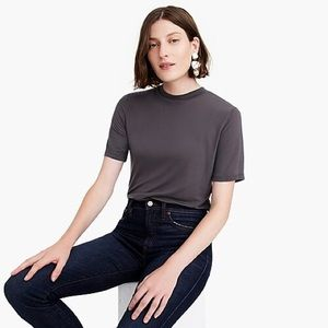 NWT J. Crew Mockneck lyocell T-shirt Medium
